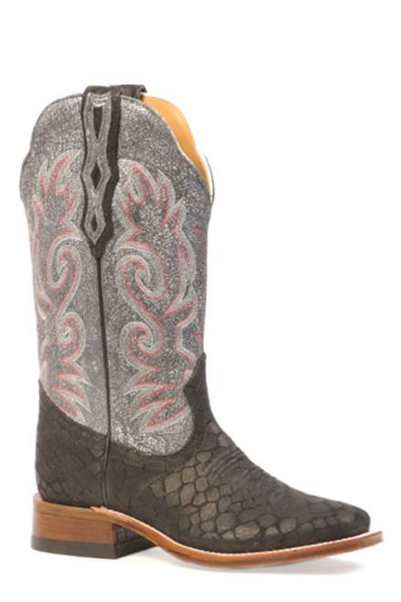 "Boulet Ladies 13"" Leather Senora wide toe stockman heel Egl White 3211"