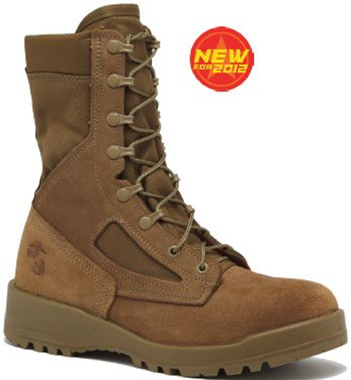 "Belleville Mens 590 8"" Leather and Nylon Hot Weather Combat Boots"