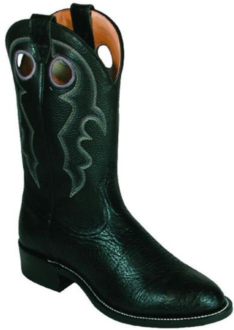Boulet Mens Western Boots Black Taurus 0027