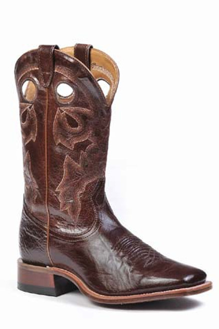 Boulet Mens Western Boots Centrifugato Ingrassato Marrone 8034
