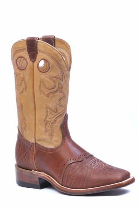 Boulet Mens Western Boots Apache Whaler Buckskin 8152