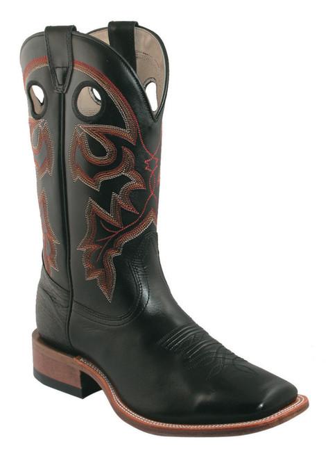Boulet Mens Western Boots Bello Vitello Black Calf 7063