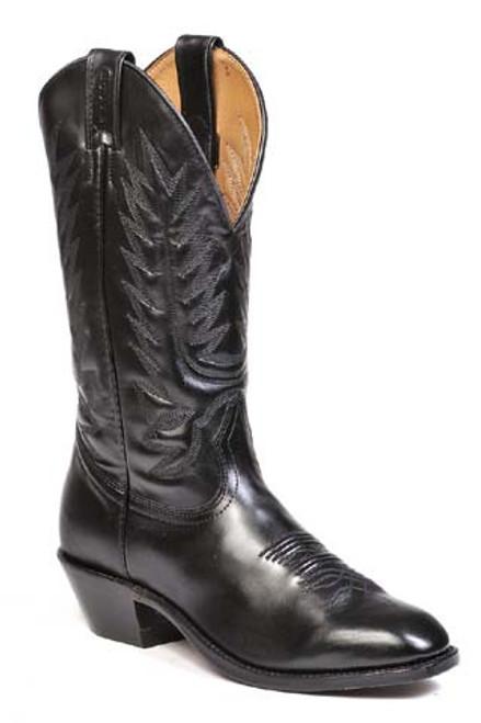 Boulet Mens Western Boots Bello Vitello Black Calf 8063
