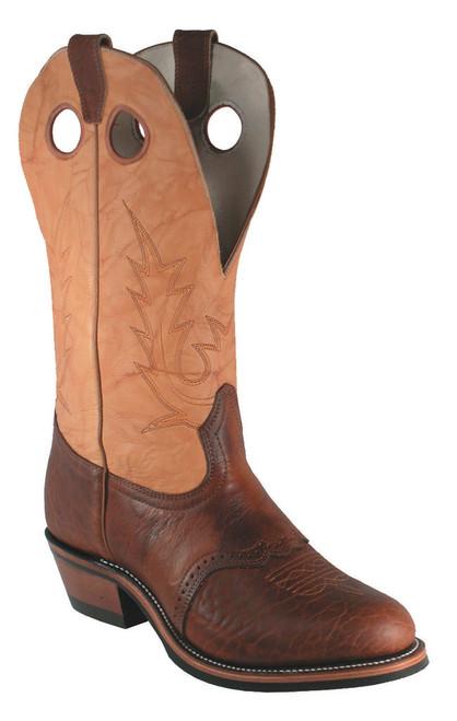 Boulet Mens Western Boots Apache Whaler Buckskin 4163