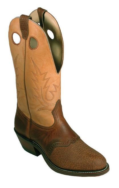 Boulet Mens Western Boots Apache Whaler Buckskin 2175