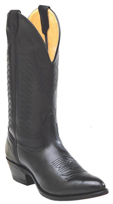 Boulet Mens Western Boots Sporty Black Deer Tan 9502