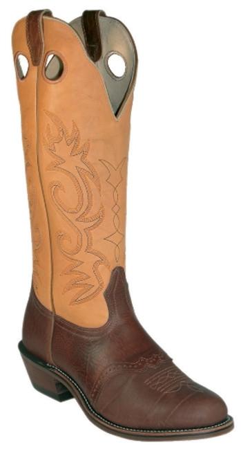 Boulet Mens Western Boots Apache Whaler Buckskin 2042