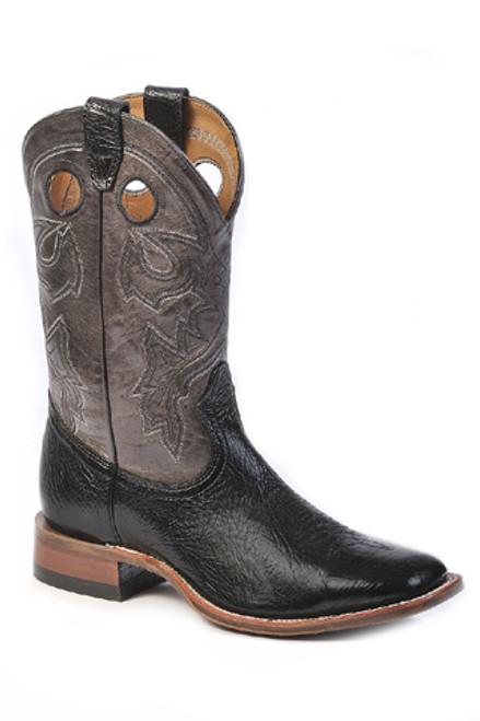Boulet Mens Western Boots Black Taurus 9033