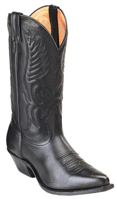 Boulet Mens Western Boots Sporty Black Deer Tan 1866
