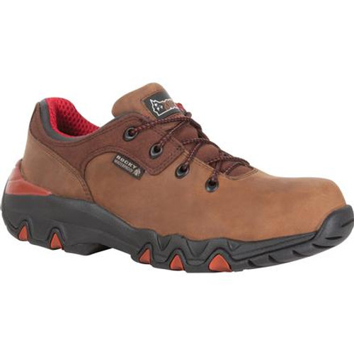 Rocky Bigfoot Waterproof Oxford Work Shoe K066 MEDIUM BROWN