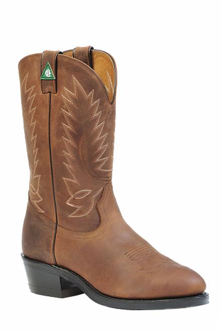 Boulet Mens Western Boots Apache Honey Claro 1372