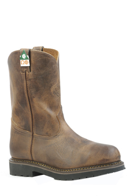 Boulet Mens Western Boots Hill Billy Golden Boots