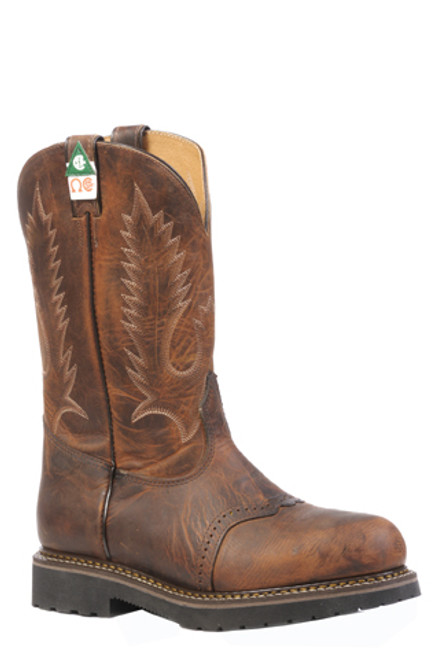 Boulet Mens Western Boots Laid Back Tan Spice Boots 4374
