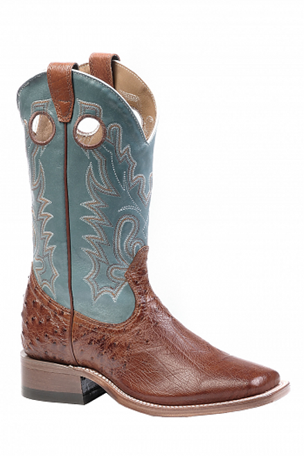 Boulet Ladies Western Boots Smooth Brandy Ostrich 9525