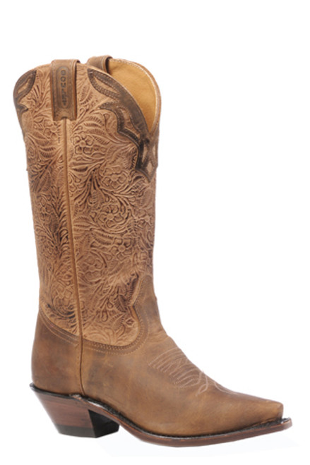Boulet Ladies Western Boots Hill Billy Golden Boots 4614