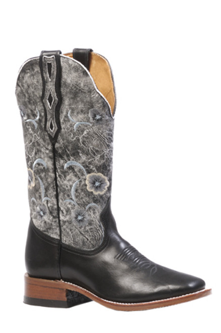Boulet Ladies Western Boots Torino Calf Black Boots 4190