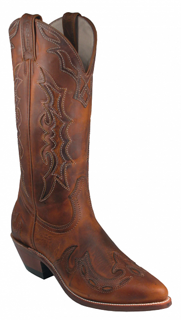 Boulet Ladies Western Boots Laid Black Tan Spice 6008