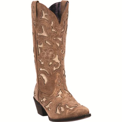 "Laredo Boots Ladies 52041 12"" SHARONA TAN"