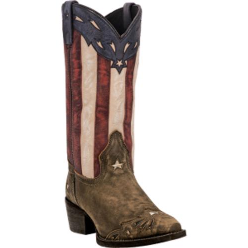 "Laredo Boots Ladies 52165 12"" KEYES TAN/MULTI"