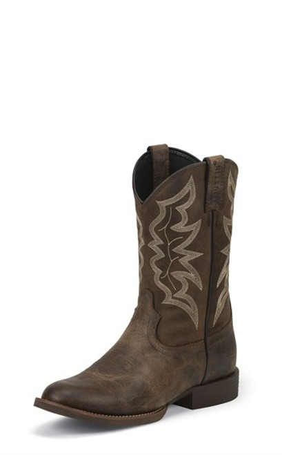 """Justin Mens Boots 7221 11 Buster"""" Distressed Brown"""