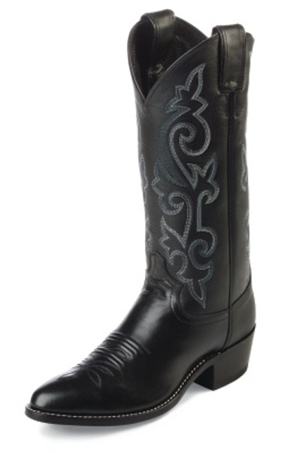 "Justin Mens Boots 1409 13"" BUCK BLACK"