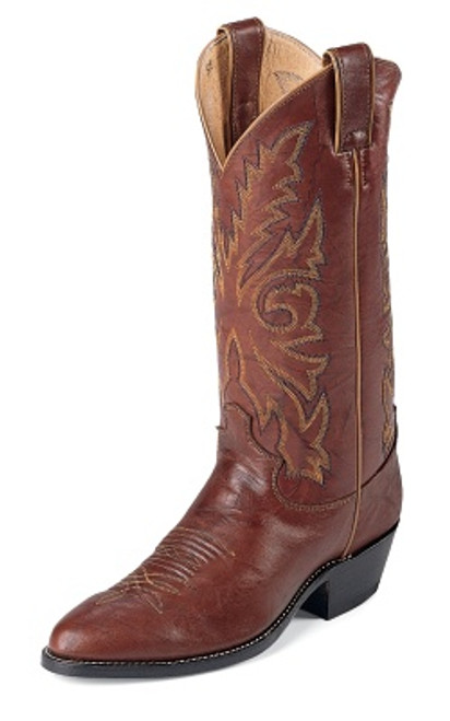 "Justin Mens Boots 1560 13"" BUCK CHESNUT"