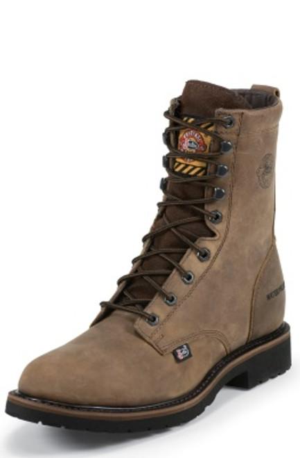 """Justin Mens Boots WK961 8"""" DRYWALL WATERPROOF STEEL TOE 8"""