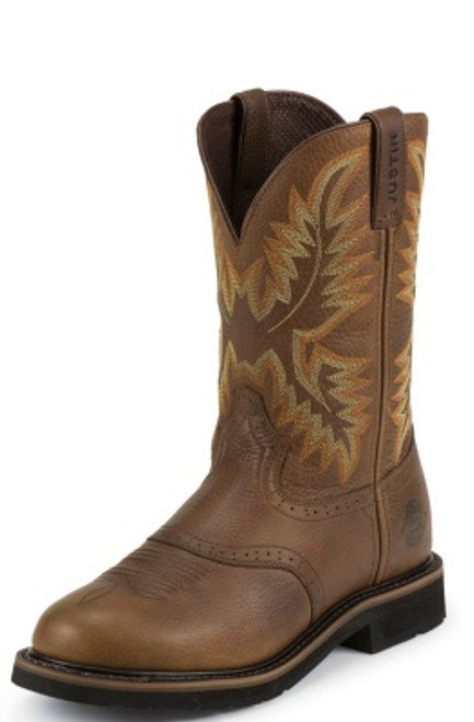 """Justin Mens Boots WK4655 11"""" SUPERINTENDENT BROWN"""