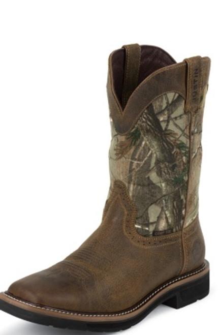 "Justin Mens Boots WK4677 11"" TREKKER WATERPROOF SQUARE COMP TOE"