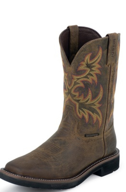 """Justin Mens Boots WK4689 11"""" DRILLER WATERPROOF WITH PLAIN TOE"""