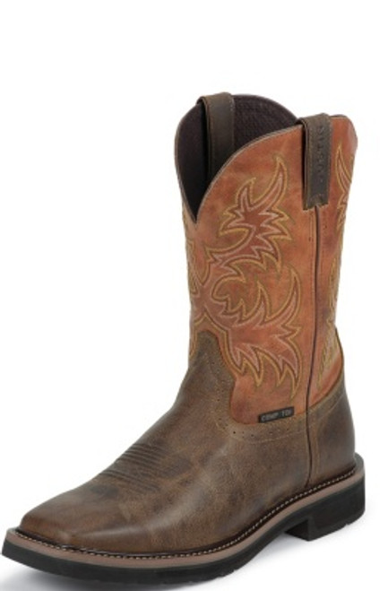 """Justin Mens Boots WK4812 11"""" SWITCH COMP TOE"""