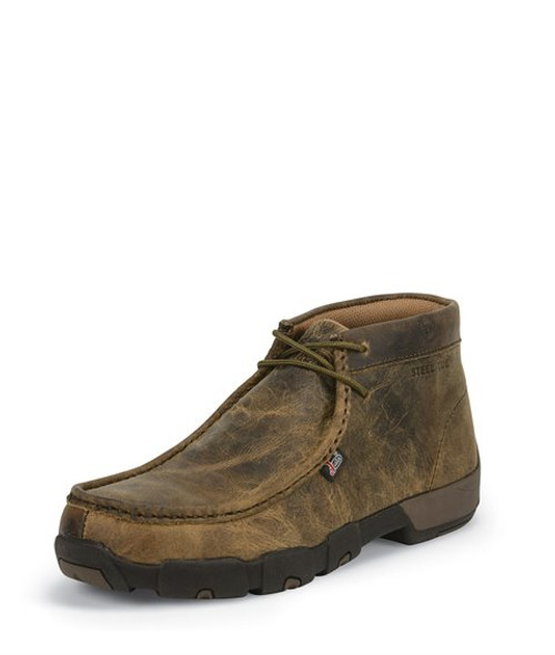 Justin Mens Boots 235  Cappie Steel Toe Brown
