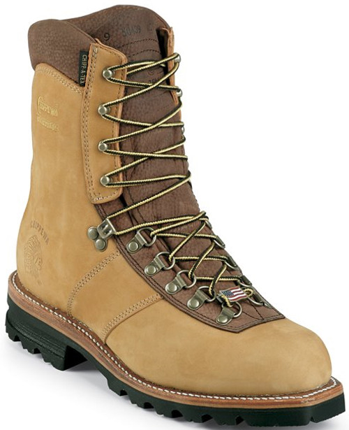 "Chippewa Mens Boots 25466 9"" GOLDEN TAN NUBUC"