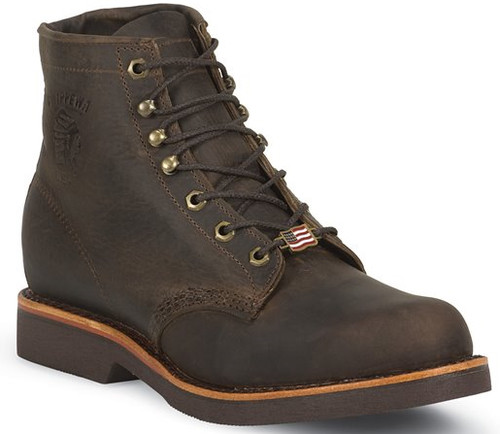 "Chippewa Mens Boots 20066 6"" CHOCOLATE APACHE STEEL TOE LACE UP"