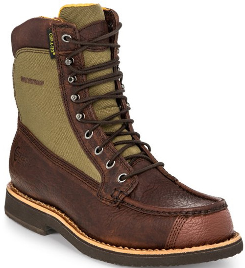 "Chippewa Mens Boots 24946 8"" WATERPROOF BRIAR W/SHARK TIP"