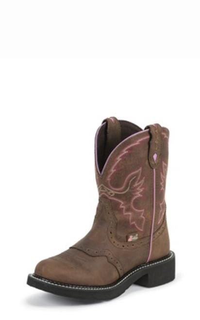 "Justin Ladies Boots L9903 8"" AGED BARK"
