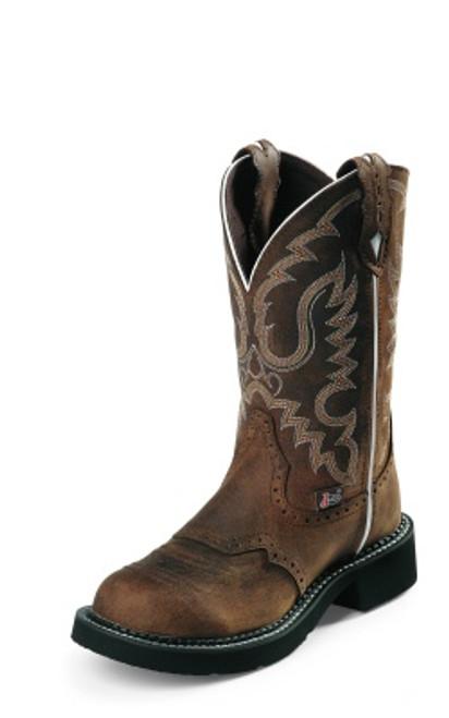 "Justin Ladies Boots L9909 11"" AGED BARK"