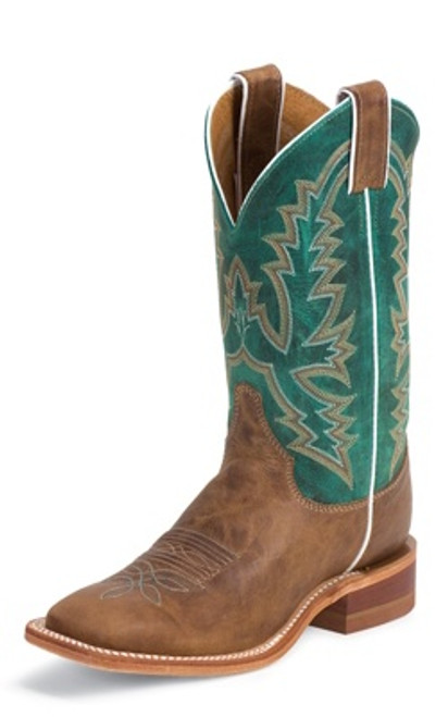 "Justin Ladies Boots BRL317 11"" AMERICA BURNISHED TAN"