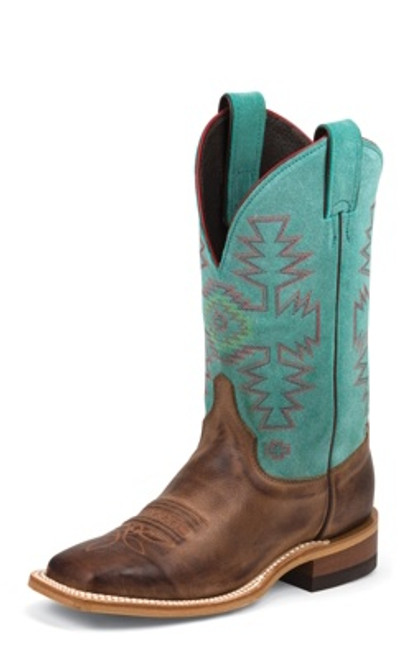 "Justin Ladies Boots BRL355 11"" KENEDY TURQUOISE"