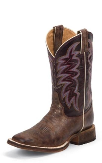 "Justin Ladies Boots BRL372 11 Yancey"" Distressed Brown"