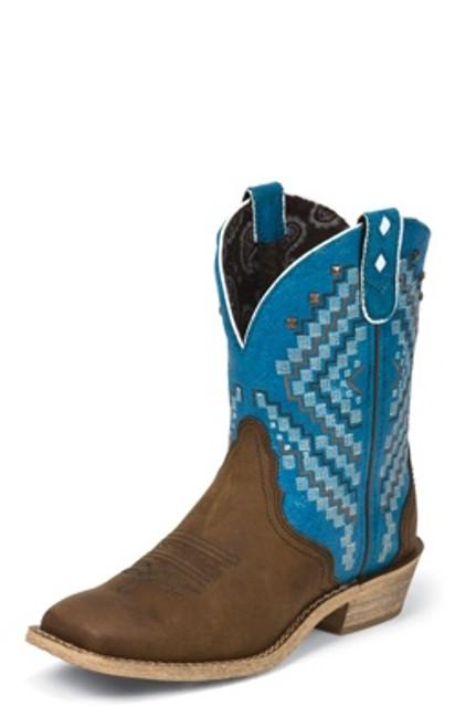 "Justin Ladies Boots L9861 8"" BAY APACHE"