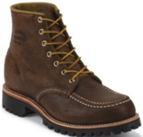"Chippewa Mens Boots 1901M64 6'"" BROWN BOMBER MOC TOE FIELD BOOT"