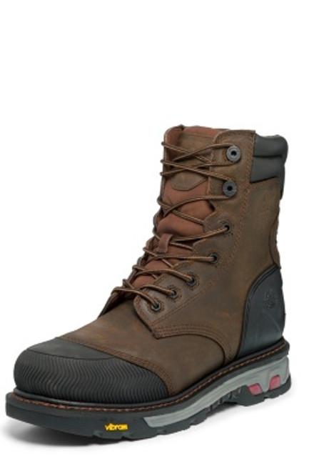 "Justin Mens Boots WK261 8 Warhawk Nano Comp Toe"" Brown"
