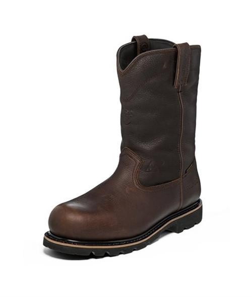 "Justin Mens Boots WK4711 10"" MINER DARK BROWN COMP TOE"