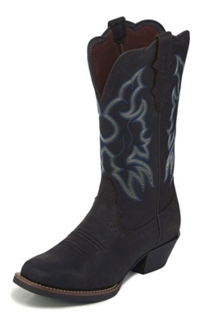 "Justin Ladies Boots L2730 12 Brandy"" Dark Brown"