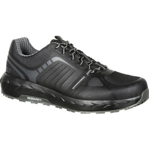 Rocky Boots Mens LX Alloy Toe Athletic Work Shoe RKK0246 BLACK GREY