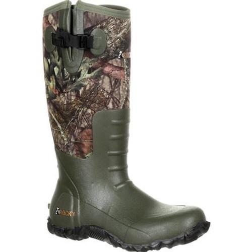 Rocky Boots Mens Core Rubber Waterproof Outdoor Boot RKS0350 MOSSY OAK BREAK UP COUNTRY