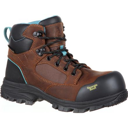 Georgia Boot Blue Collar Women's Composite Toe Waterproof Work Boot GB00158 DARK BROWN