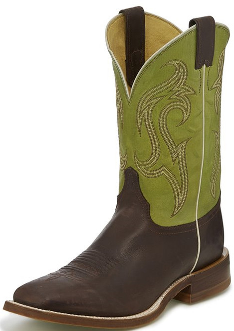 "Justin Mens Boots BR5342 11"" BENDER COCOA"