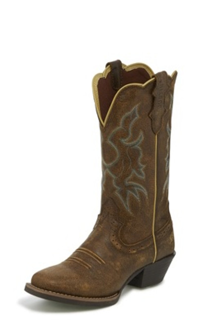 """Justin Ladies Boots L2718 12"""" Durant Brown Bomber"""